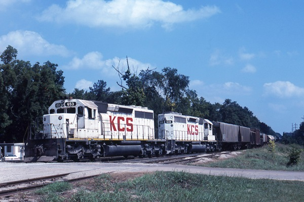 KCS 653 at DeQuincy, LA on Jan. 2, 1979