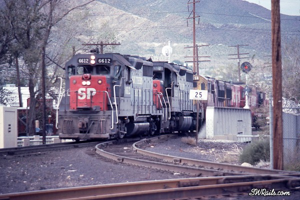 Southern Pacific and Rock Island locomotives at El Paso, Texas