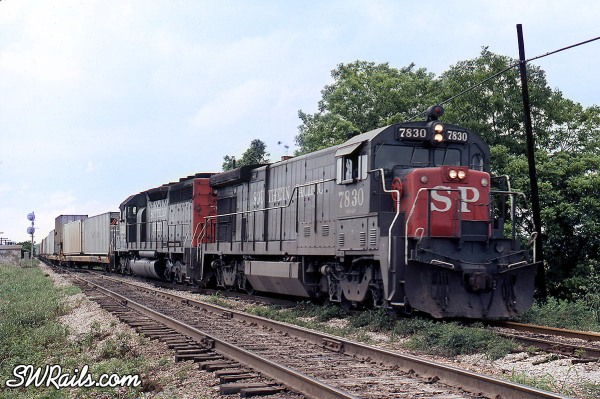 Southern Pacific LAAVT train at Harlem TX in 1981