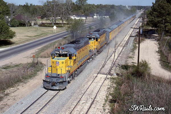 Union Pacific business train at Spring, Texas
