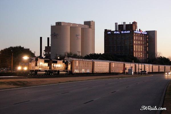 Union Pacific freight train at Sugar Land, Texas