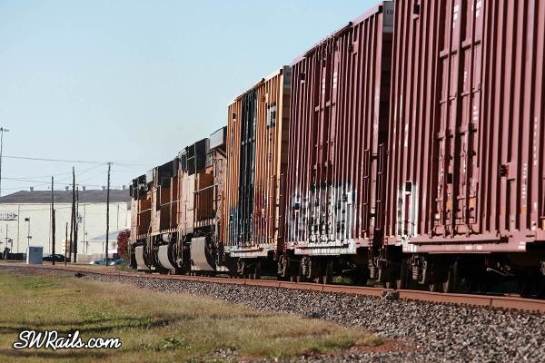 UP QEWWC freight train in Stafford, Texas