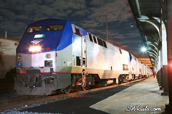 Amtrak Sunset Limited passenger train at Houston, Texas