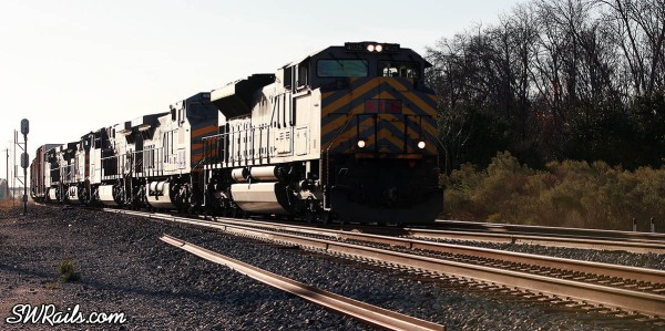 KCS freight train at West Junction in southwest Houston