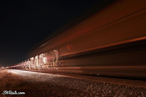 Kansas City Southern freight train at Sugar land, TX