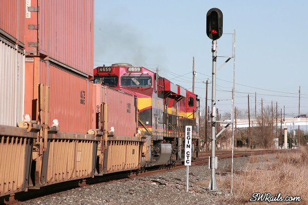 KCS freight train at Rosenberg, TX