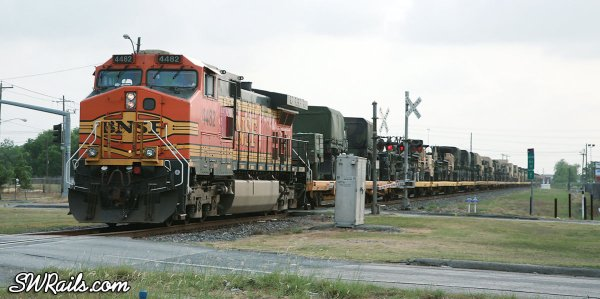 BNSF military train, Houston, TX