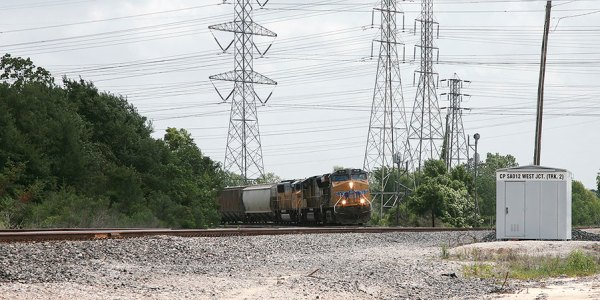 UP freight train at west jct. texas