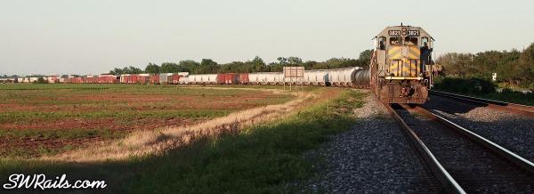 KCS freight train at Sugar Land, Texas