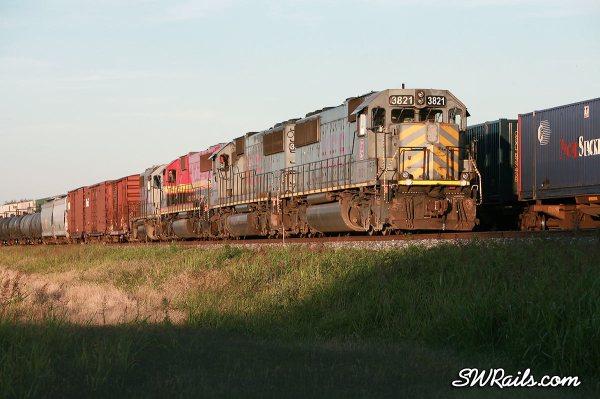 KCS freight train at Sugar Land, TX