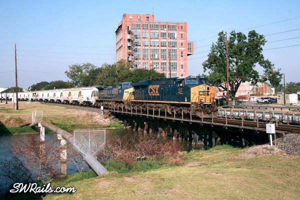 CSX freight train at Sugar Land TX