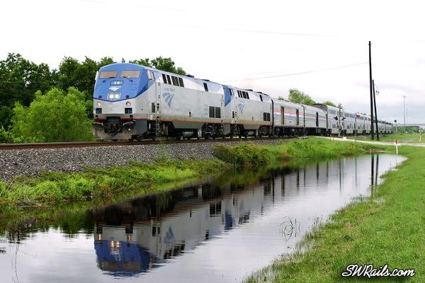 Amtrak Sunset limited at Missouri City, TX