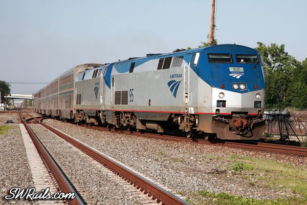 Amtrak #1, the Sunset Limited, at Houston, Texas