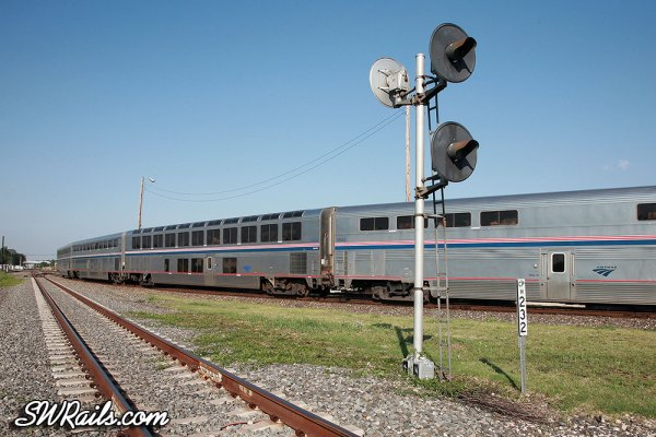 Amtrak #1, the Sunset Limited, at Houston, Texas