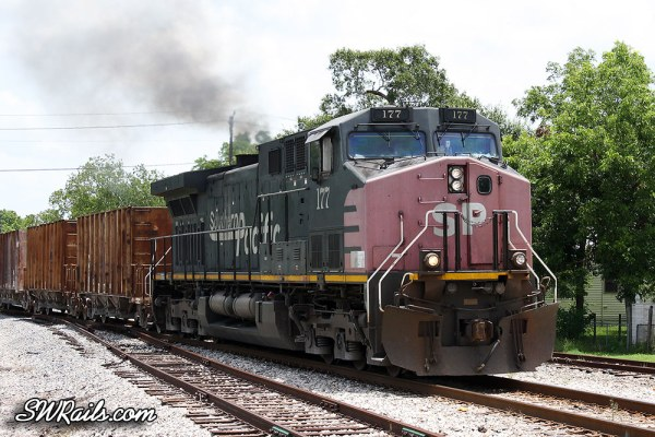 Southern Pacific AC4400CW 177at Sealy TX on 7-16-2012