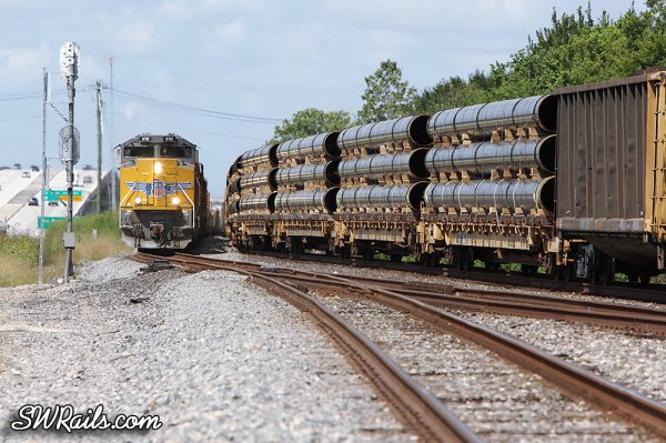 UP SD70ACe 8710 at West Junction TX on QWCEW freight train