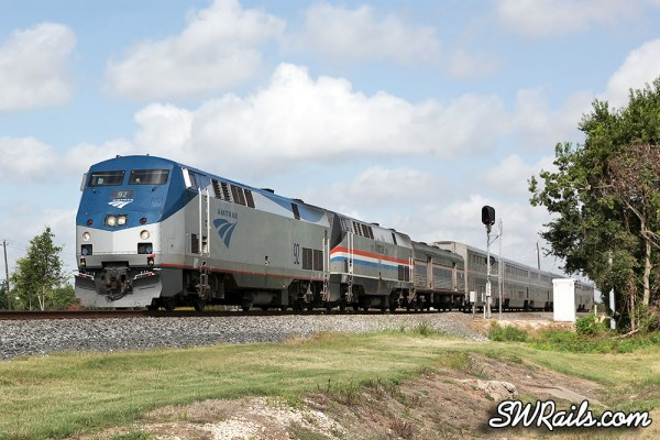 Amtrak Sunset Limited at Stafford Texas