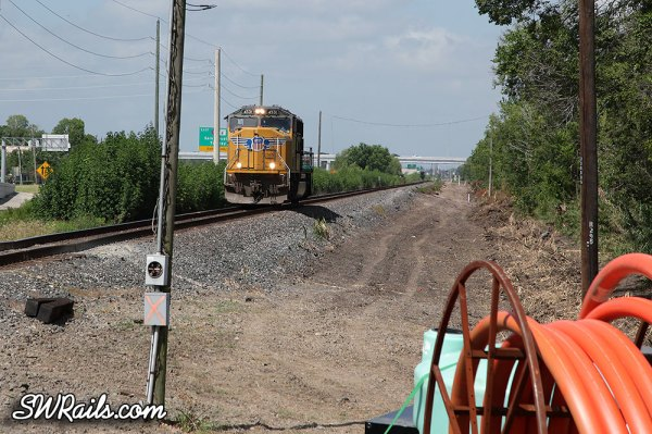 Union Pacific Glidden Sub double tracking project between Heacker, TX and Missouri City, TX.
