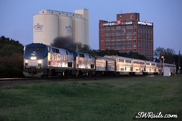 Amtrak Sunset Limited at Sugar Land TX