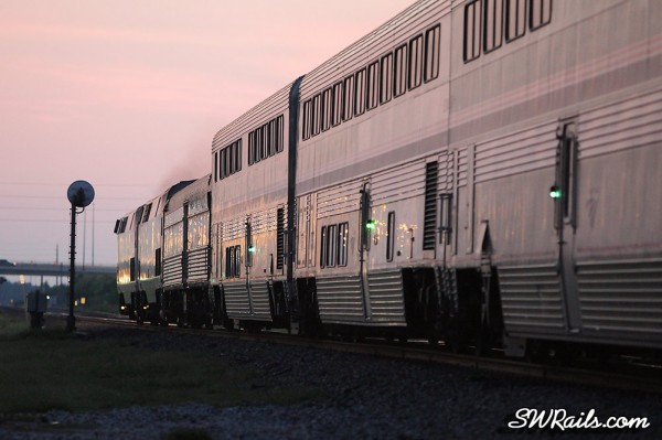 Amtrak Sunset Limited at Sugar Land TX