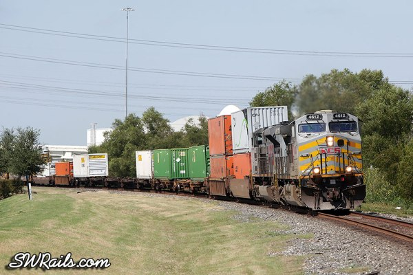 Kansas City Southern AC4400CW 4612 at Stafford, TX