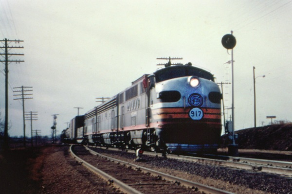 SSW Cotton Belt FT 917 on freight train at Naples TX