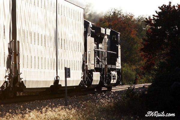 KCSM AC4400CW 4529 on KCS freight train at Rosenberg, TX