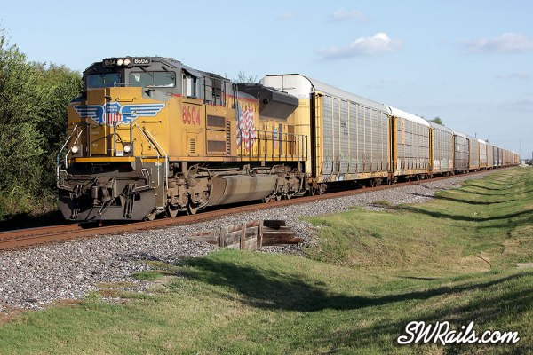 Union Pacific SD70ACe 8604 at Stafford TX on ASPEGR train