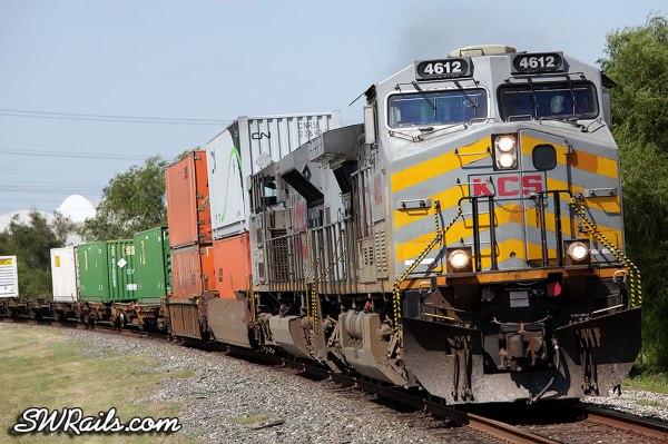 Kansas City Southern AC4400CW 4612 at Stafford, TX