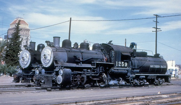 SP Southern Pacific 1259 0-6-0 steam locomotive at Fresno CA