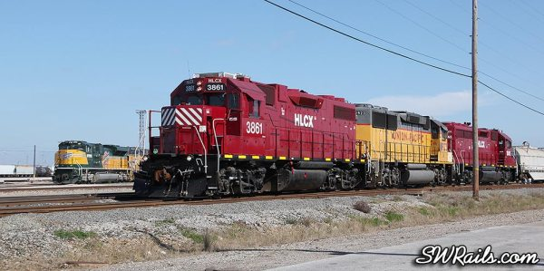 HLCX 3861 at UP's Englewood yard in Houston