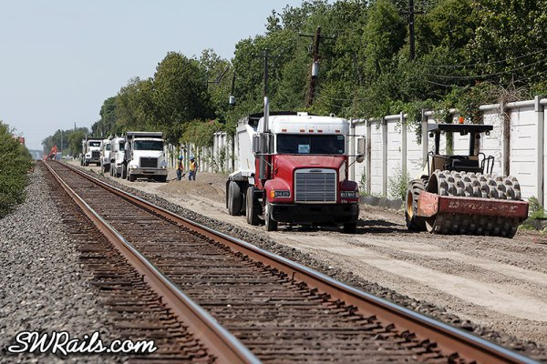 Union Pacific trackwork near MP 15 of Glidden sub in Houston TX
