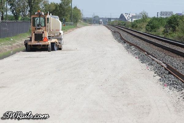 Union Pacific trackwork near MP 15 of Glidden sub in Houston TX