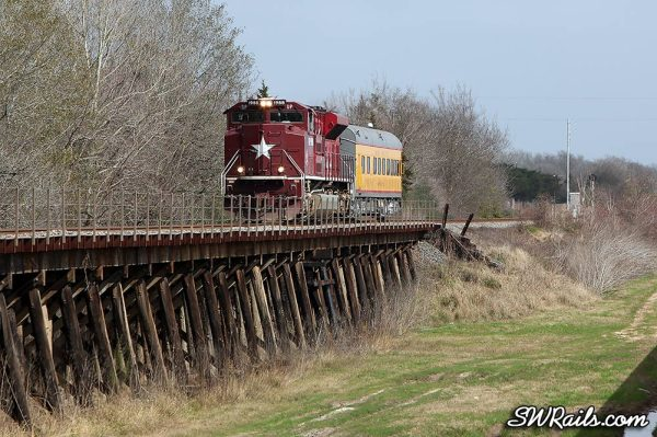 UP 1988 SD70ACE Katy Heritage on SSPSA special passenger train at East Bernard TX