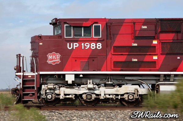 UP 1988 SD70ACE Katy Heritage at East Bernard TX