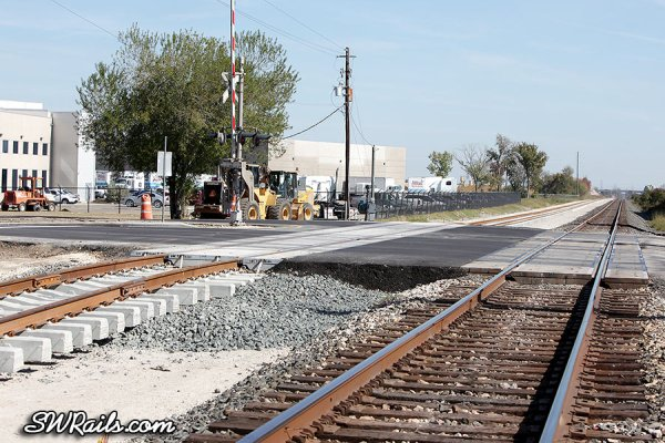 new Union Pacific grade crossing at Chimney Rock drive in Houston TX