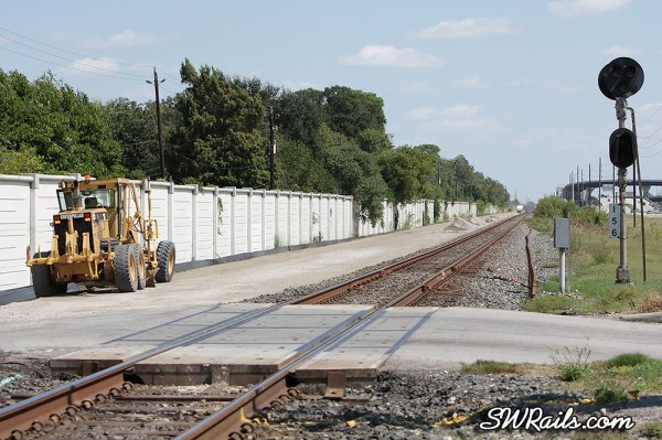 Union Pacific new Glidden sub main line in Houston TX