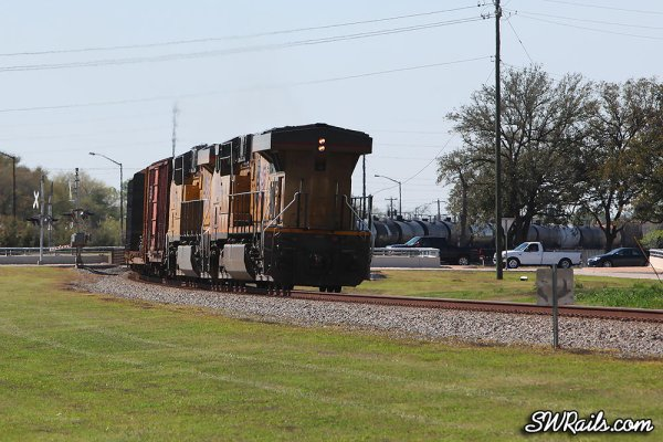 Union Pacific DPU locomotives at Stafford TX