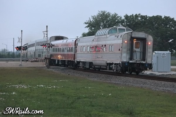 private cars on the Sunset Limited at Stafford TX