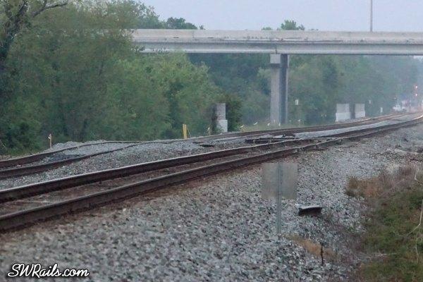 New Union Pacific trackwork in Missouri City TX