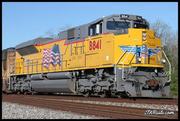 brand-new Union pacific SD70AH 8841 at West Junction TX on 3/18/2014