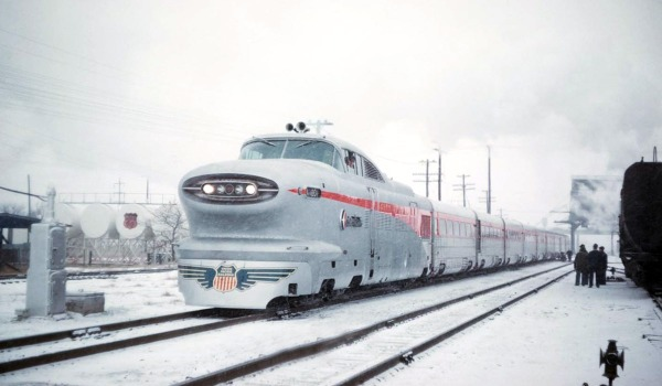 UP-1001-Aerotrain-At-Columbus-NE-1956