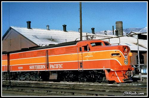 Southern Pacific PA 6006 at Ogden UT in October, 1958