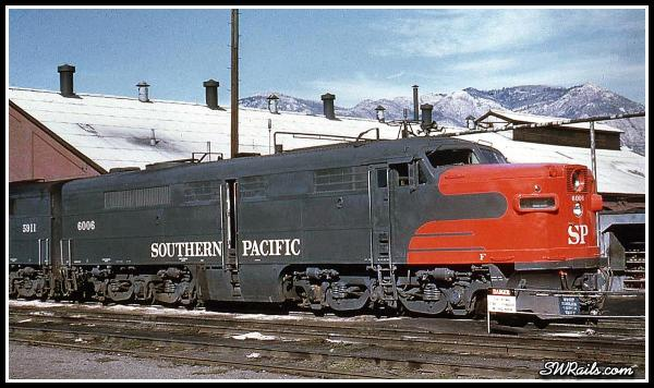 Southern Pacific PA 6006 at Ogden UT in the early 1960's