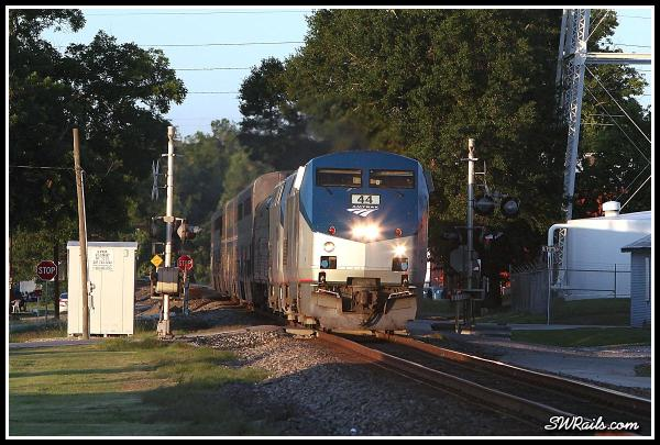 Amtrak P42DC 44 on Sunset Limited in Richmond TX