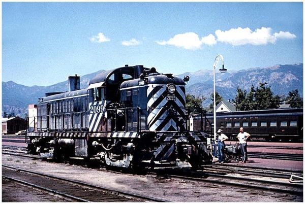 ATSF ALCO RS2 at San Bernardino in the early 1960's