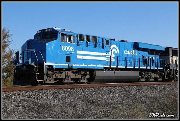 NS 8098, Conrail heritage locomotive, at Harlem, TX on 11-24-2014