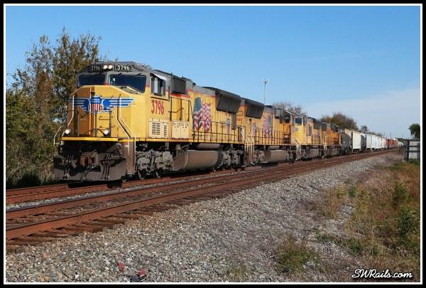 UP SD70M 3796  at Harlem TX