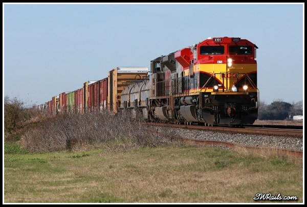 KCS SD70ACE 4191 at Sugar Land TX