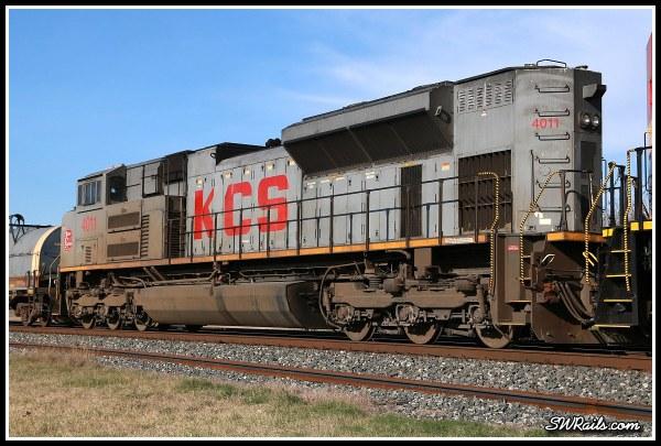 KCS SD70ACE 4011 at Sugar Land TX